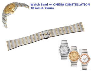 NEW ! For Watch Omega Constellation Two Tone Bracelet Deployment 18 mm & 25mm