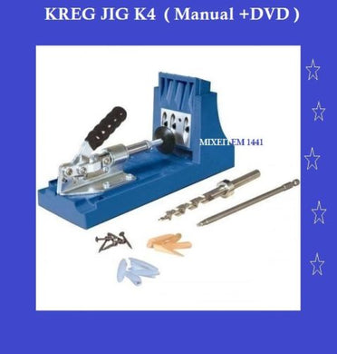 KREG K4 Pocket Hole Jig System Woodworking Kit / Manual +DVD Home Improve