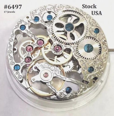 New ! Skeleton Watch Mechanical Movement 37.20 mm with Sweep Second at 9 O Clock
