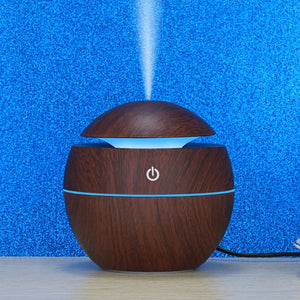Ultrasonic Aroma Diffuser USB w/  7 Color  LED's + 40 Filters