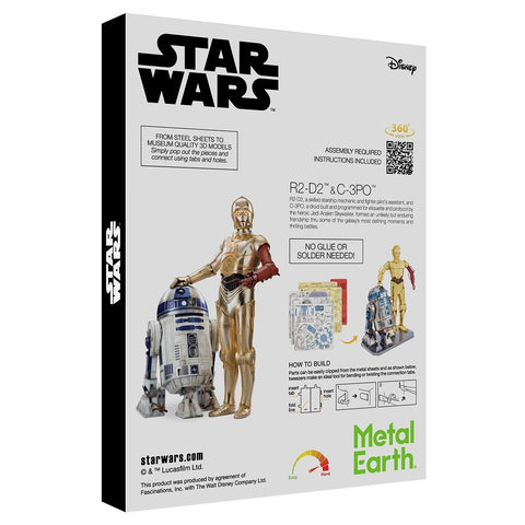 Metal Earth C-3Po and R2D2 Gift Box