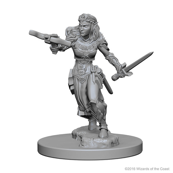 Dungeons And Dragons Unpainted Minis Elf Female Ranger