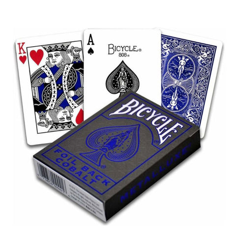 Bicycle Foil Metalluxe Blue Playing Cards