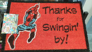 Marvel Comics Spider-Man Swinging By Doormat
