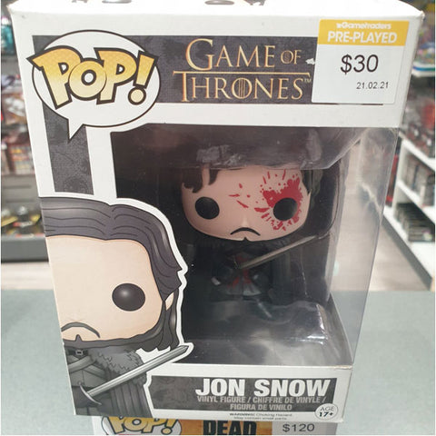 Game Of Thrones Jon Snow Bloody Us Pop Vinyl