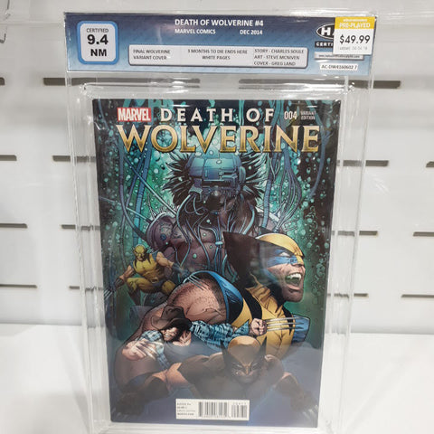 Death of Wolverine #4 Final Variant Graded 9.4