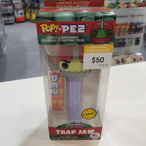 Masters of the Universe Trap Jaw Pop Pez Chase