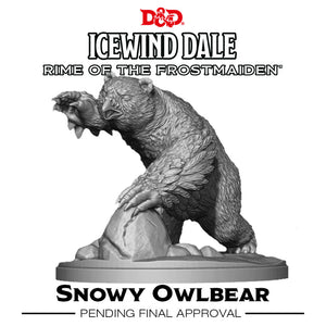 D&D Icewind Dale Rime of the Frostmaiden Snowy Owlbear