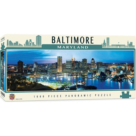 Masterpieces Puzzle City Paniramic Baltimore 1,000 Pieces