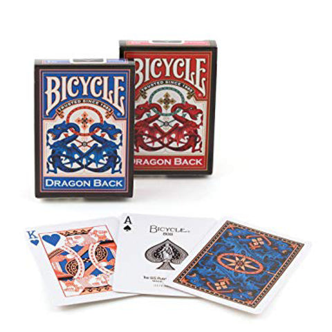 Image of Bicycle Poker Dragon Red/Blue