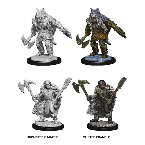 Image of Dungeons & Dragons - Nolzur's Marvelous Unpainted Minis: Unpainted Male Half-Orc Barbarian