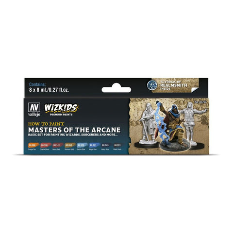 Image of Wizkids Premium Paint Set by Vallejo: Masters of the Arcane