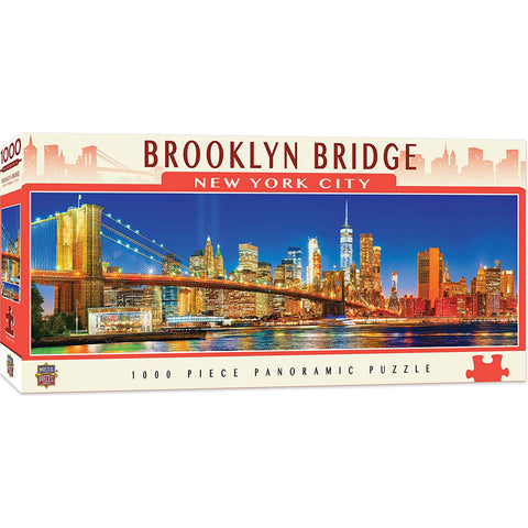 Masterpieces Puzzle City Panoramic Brooklyn Bridge NYC 1,000 Pieces