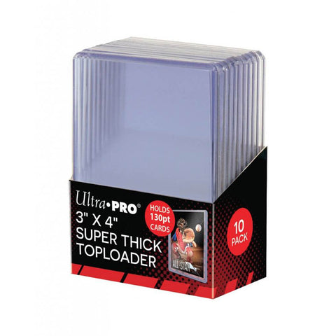ULTRA PRO Top Loader - 3 x 4 130pt (10 pk)