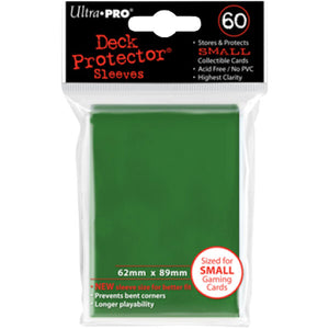 Ultra Pro - Mini Deck Protectors Green (60 Count)