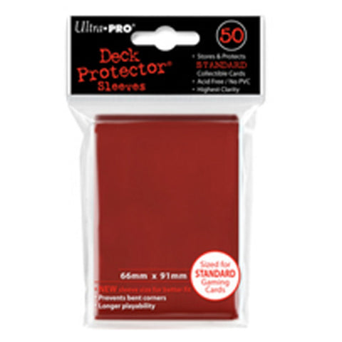 ULTRA PRO Deck Protector - Standard 50ct Lava Red