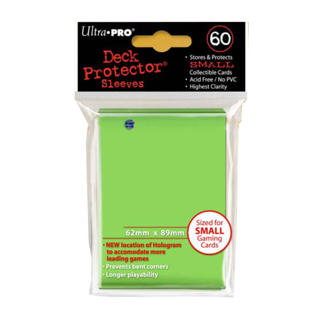 ULTRA PRO - Solid Lime Green Deck Protector Sleeves - Small Size