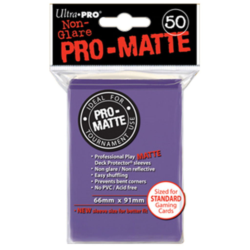 Ultra Pro Pro -Matte - Deck Protector Sleeves 50ct Purple