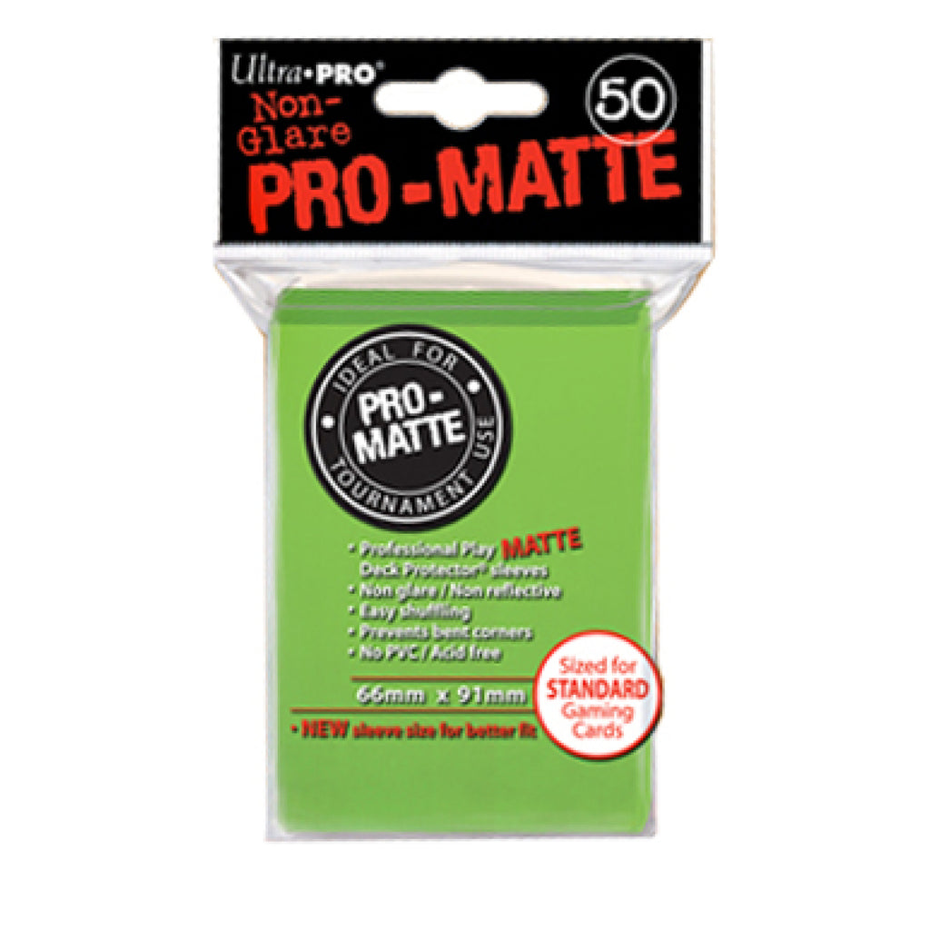 ULTRA PRO PRO-Matte - Deck Protector Sleeves Lime 50ct Green