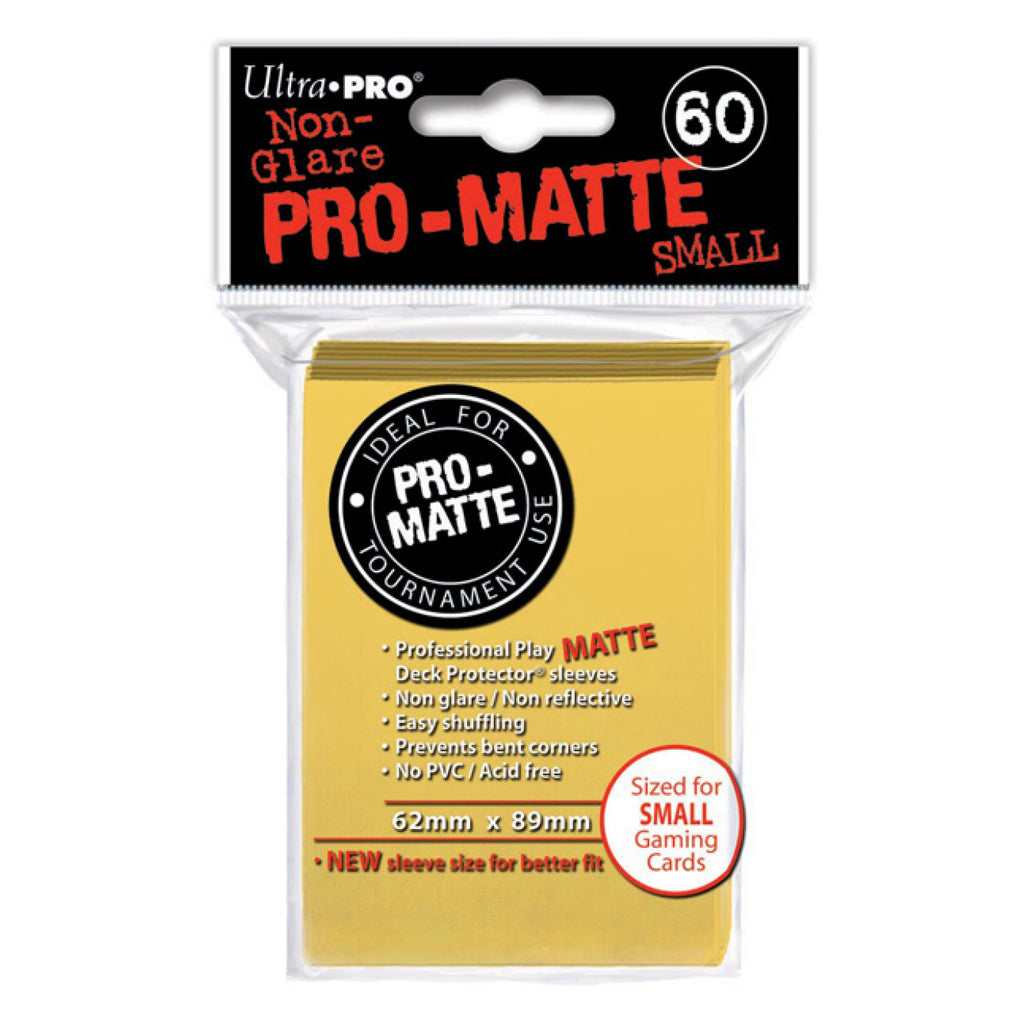 ULTRA PRO - SMALL PRO Matte Deck Protector Sleeves Yellow