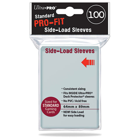 Pro-fit Standard size Side Load Clear Sleeves