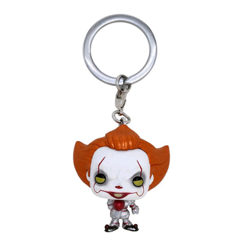 It (2017) - Pennywise with Balloon Metallic US EXClusive Pocket Pop! Keychain [RS]