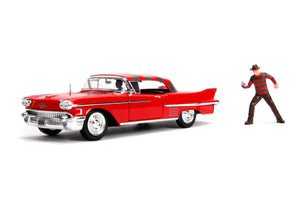 A Nightmare on Elm St - 1958 Cadillac Series 62 1:24 with Figure Hollywood Ride