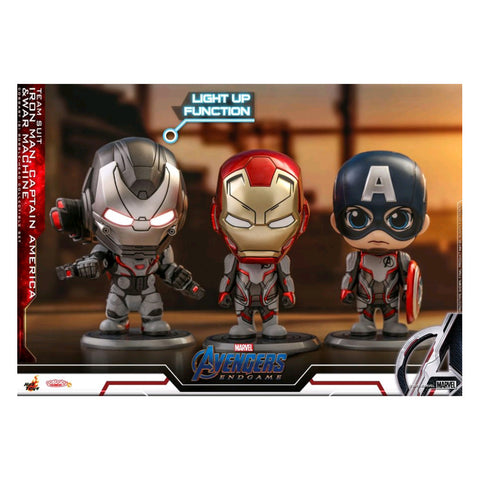 Avengers 4: Endgame - Iron Man, Captain America & War Machine Cosbaby Set