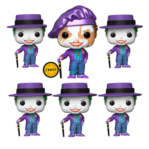 Batman 1989 - Joker with Hat Chase 6 Bundle Pop Vinyl