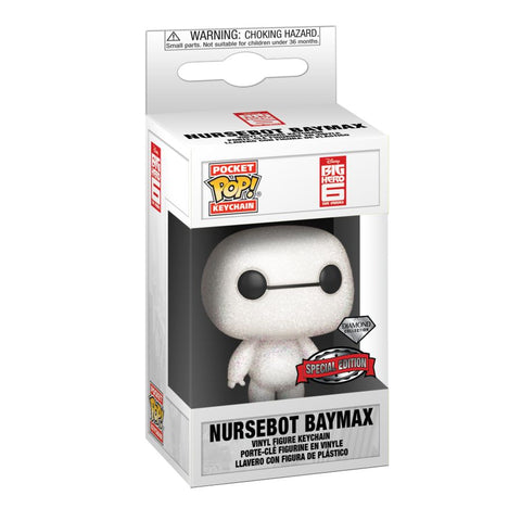 Big Hero 6 - Baymax Diamond Glitter US Exclusive Pocket Pop! Keychain [RS]