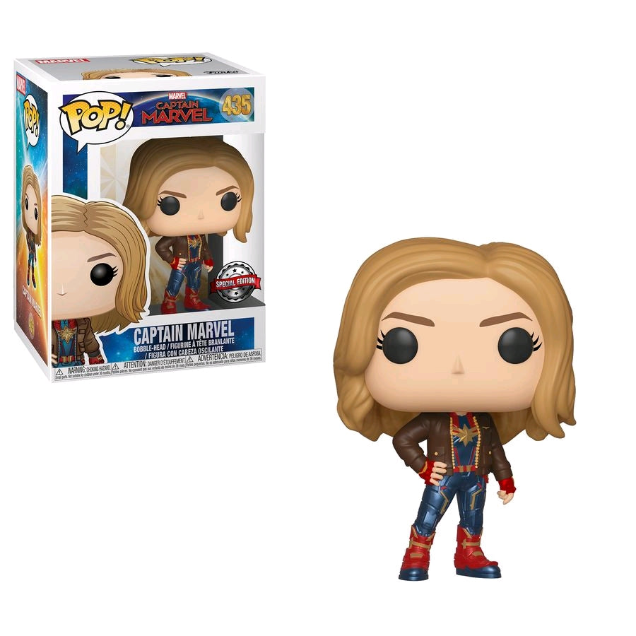 Captain Marvel - Captain Marvel with Jacket US Exclusive Pop! Vinyl