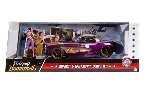 DC Bombshells - Batgirl 1957 Chevy Corvette 1:24 Scale Hollywood Rides Diecast Vehicle