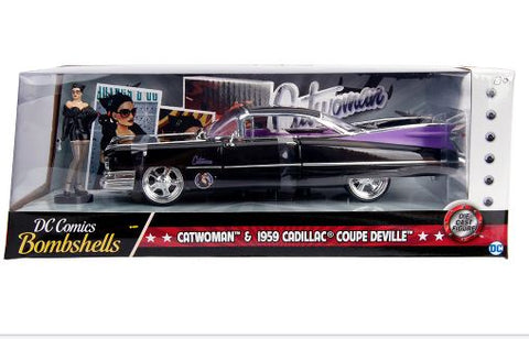 DC Bombshells - Cat woman 59 Cadillac 1:24 Hollywood Ride