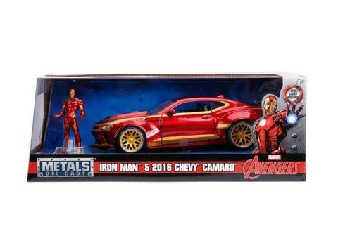 Image of 1:24 Ironman w/2016 Chevy Camaro Movie Hollywood Rides