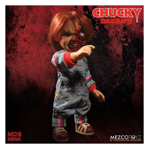 Childs Play 3 - Chucky Doll Pizza Face 15 inch Talking Action Figure