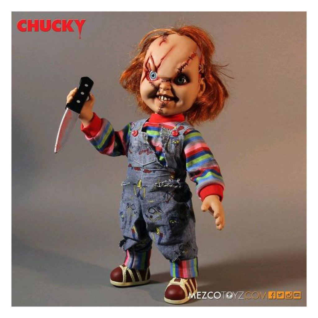 Childs Play Scarred Chucky 15 Inch Talking Doll Gametraders Blacktown