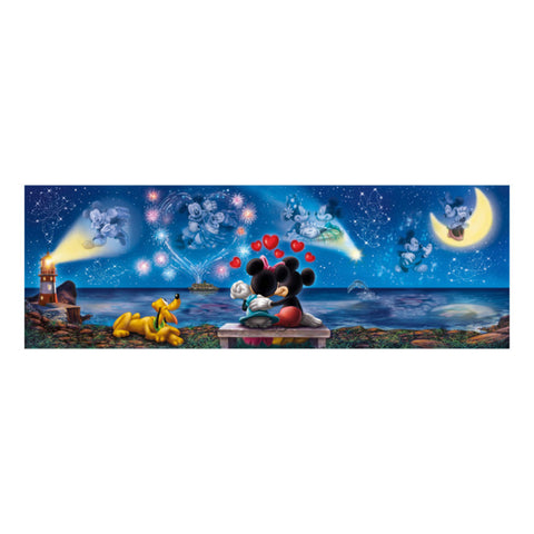 Clementoni Disney Puzzle Mickey and Minnie Panorama 1000 Pieces