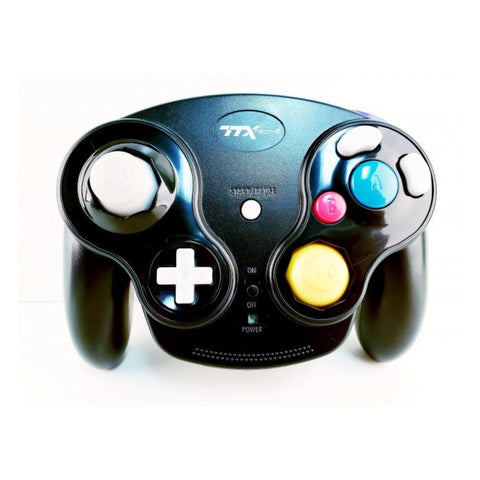 Gamecube Wireless Wavedash 2.4GHZ Controller- Black