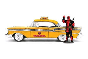 Deadpool - Chevy Yellow Taxi 1:24 Scale Hollywood Rides Diecast Vehicle