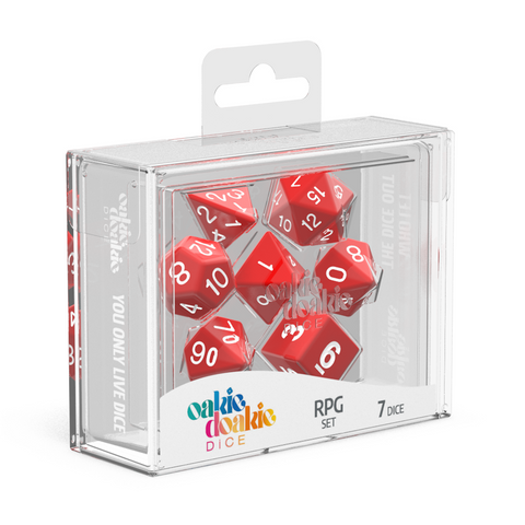 Oakie Doakie Dice RPG Solid Red