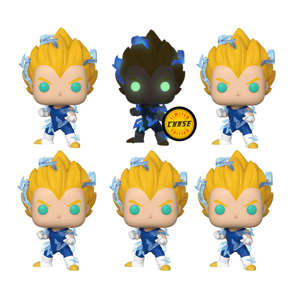 Dragon Ball Z - Vegeta SS2 Pop Vinyl Chase Bundle (6 pack)