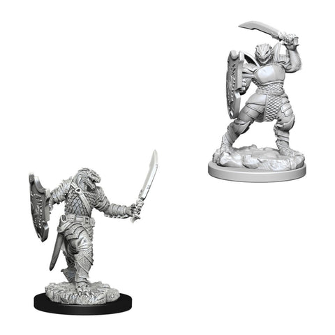 Image of Dungeons And Dragons Unpainted Minis Dragonborn Female Paladin