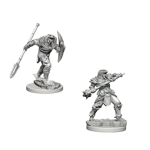 Dungeons And Dragons Unpainted Minis Dragonborn Male Fighter Wspear