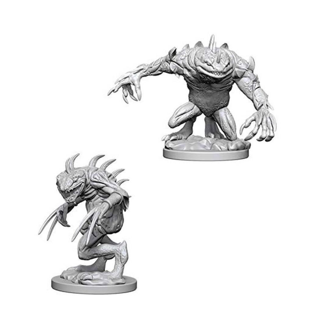 Dungeons And Dragons Unpainted Minis Grey Slaad And Death Slaad