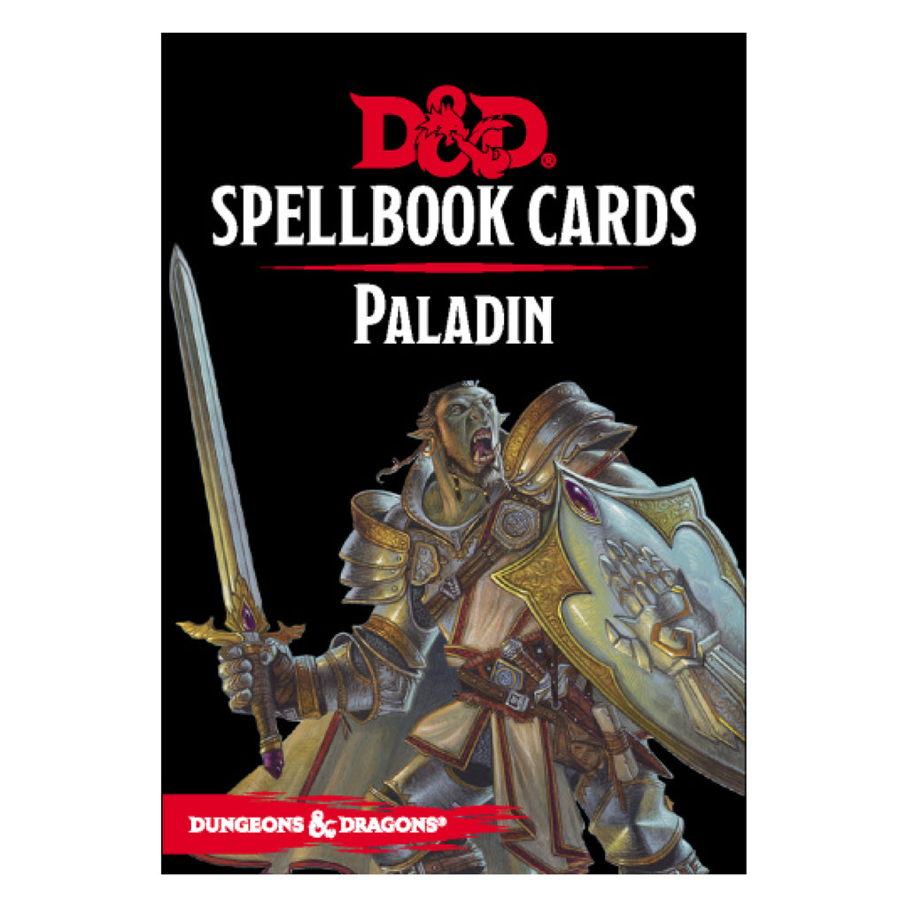 Dungeons And Dragons Spellbook Cards Paladin