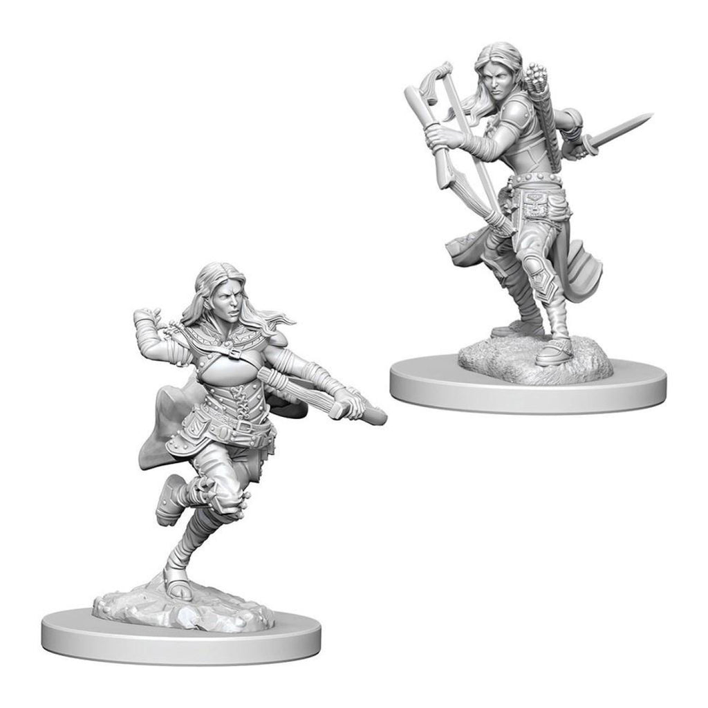 Dungeons And Dragons Unpainted Minis Air Genasi Female Rogue