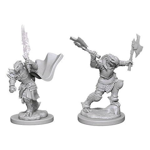 Dungeons And Dragons Unpainted Minis Dragonborn Female Fighter