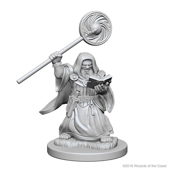 Dungeons And Dragons Unpainted Minis Dwarf Male Wizard