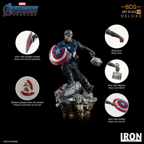 Image of Avengers 4: Endgame - Captain America 1:10 Scale Statue