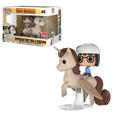 SDCC 2018 Bobs Burgers - Tina on Unicorn Pop! Ride